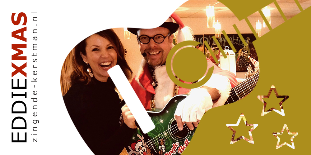 05 | Gitaar | Zingende kerstman inhuren muzikale kerstact boeken kerstborrel optreden troubadour live muziek christmas kerstfair