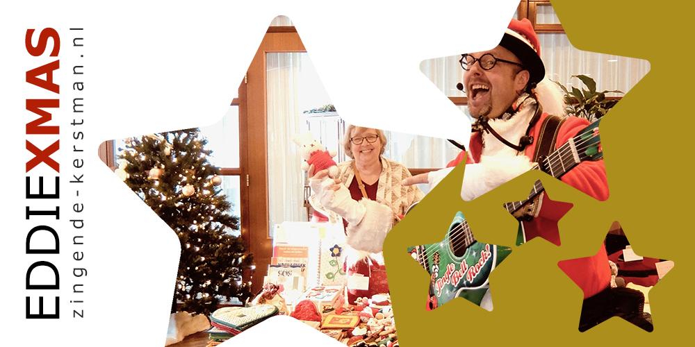 10   Ster   Zingende kerstman kerstborrel kerstfair supermarkt jumbo kerstmarkt inhuren boeken kerst troubadour winkelcentrum