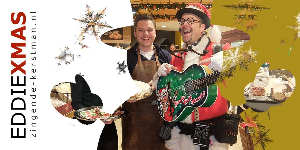 14   Sneeuwpop   Zingende kerstman gitaar zanger gitarist inhuren muzikale kerstact boeken kerstfair gelderland utrecht brabant overijssel