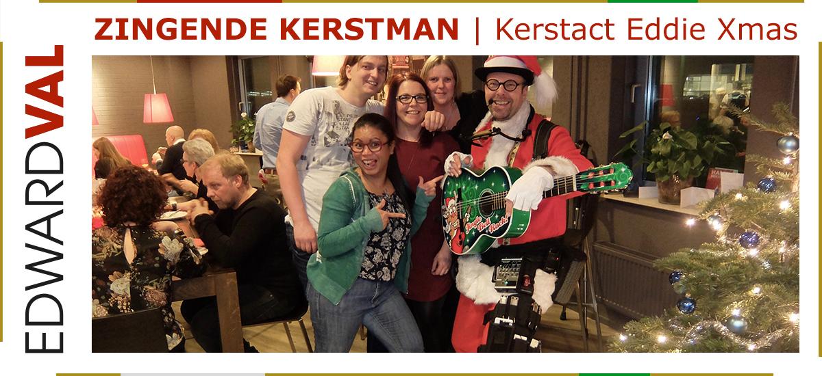 15 Zingende kerstman kerstact Eddie Xmas kerstmarkt kerstborrel kerstdiner kerst troubadour boeken overijssel