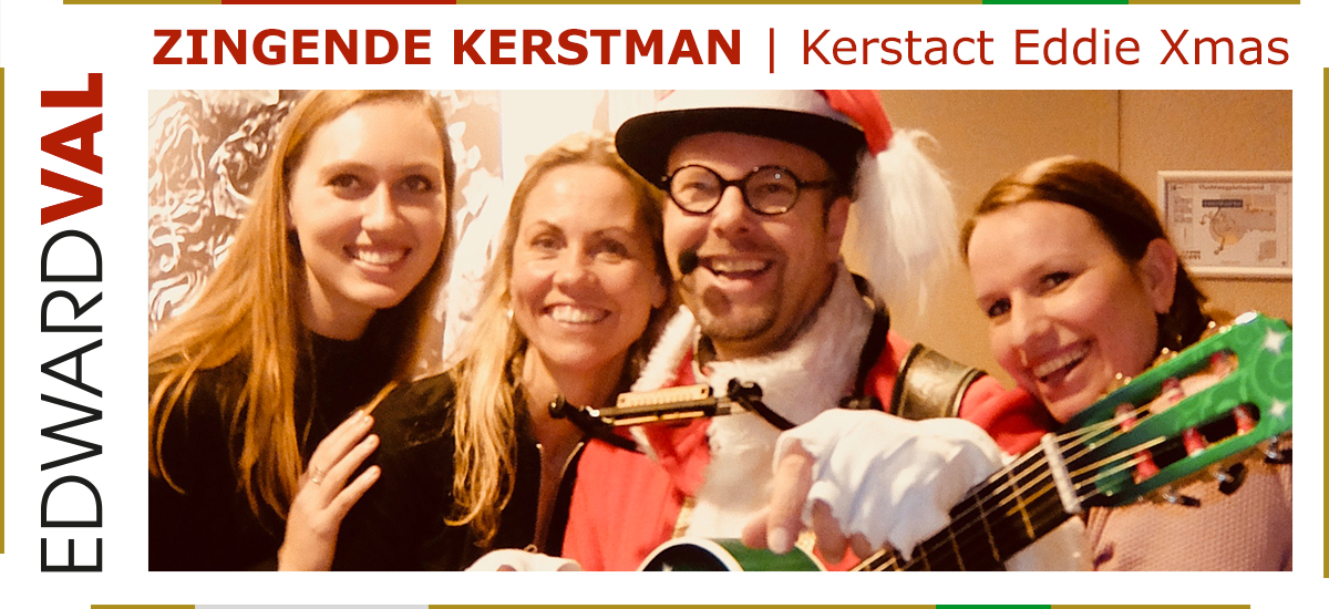 17 Zingende kerstman kerstact Eddie Xmas kerstmarkt kerstborrel kerstdiner muzikale kerstact inhuren gelderland brabant